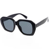 Chunky High Fashion Neutral Colored Lens Oversize Women's Square Sunglasses D058
