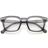 Retro Keyhole Square Horn Rimmed Blue Light Filter Glasses D084