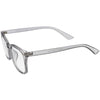 Classy Blue Light Filtering Metal Temple Detail Square Horn Rimmed Glasses D086