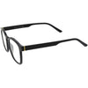 Lightweight Classic Keyhole Horn Rimmed Square Blue Light Filtering Glasses D087