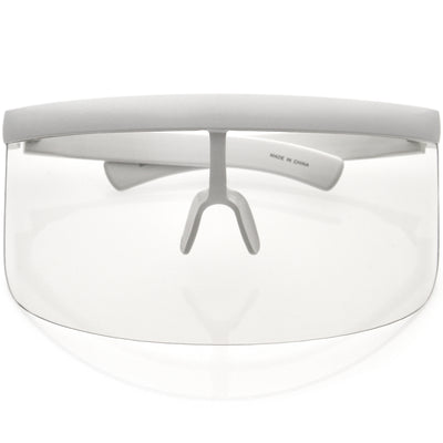 Futuristic Oversize Safety PPE Shield Blue Light Clear Lens Protection Visor D092