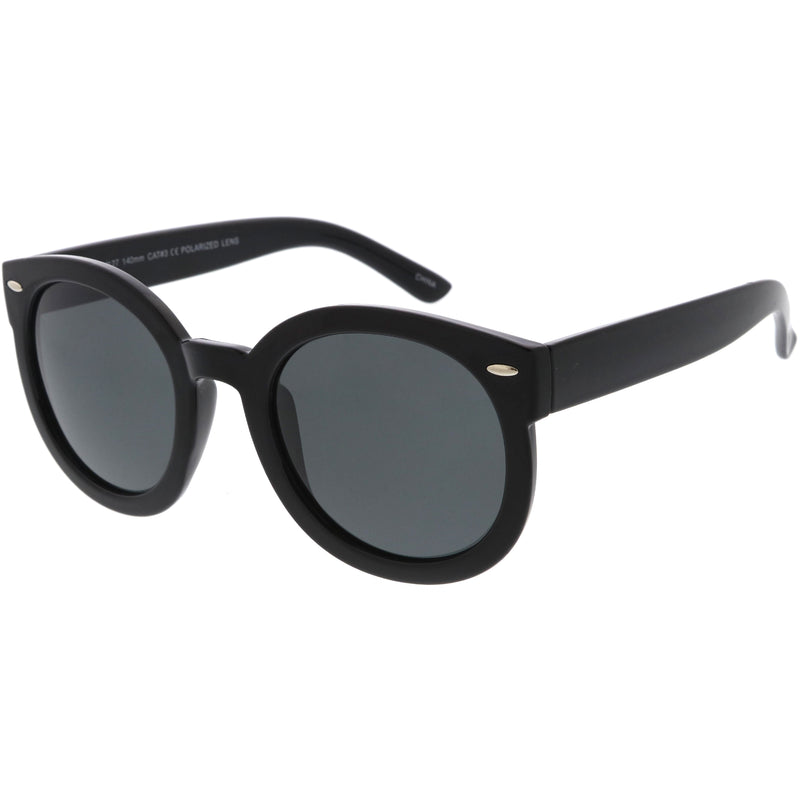 Polarized Retro Inspired High Fashion Oversize Round Sunglasses D094