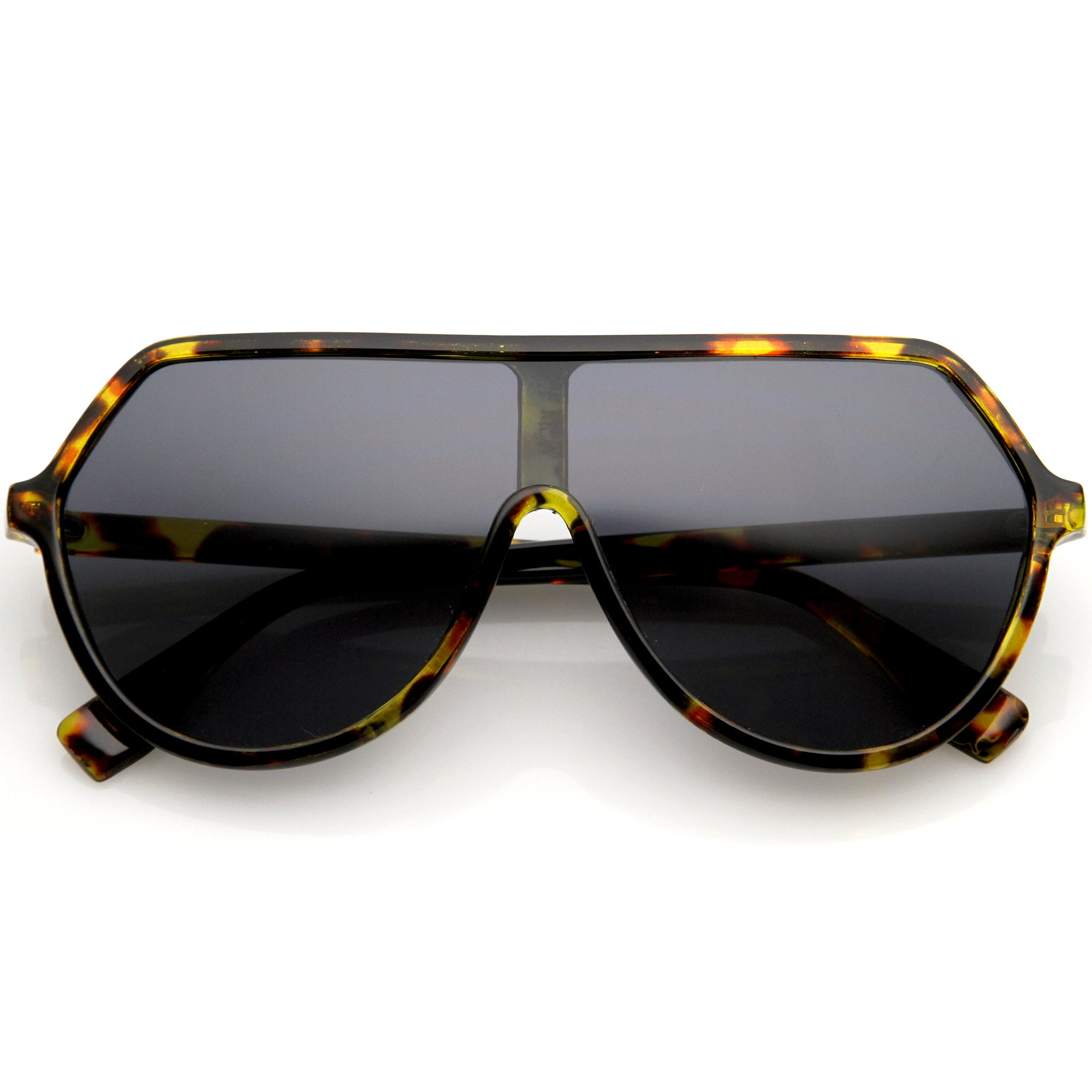 Oversized Contemporary Fashion Geometric Shield Sunglasses D112