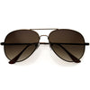 Classic Everyday Medium Sized Metal Aviator Sunglasses D118