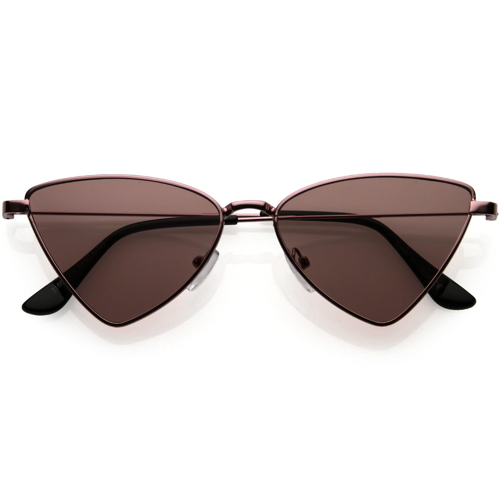 Slim Point Lightweight Metal Cat Eye Sunglasses D122