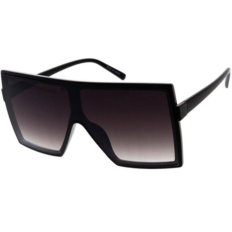 High Fashion Neutral Colored Lens Flat Top Square Sunglasses D130