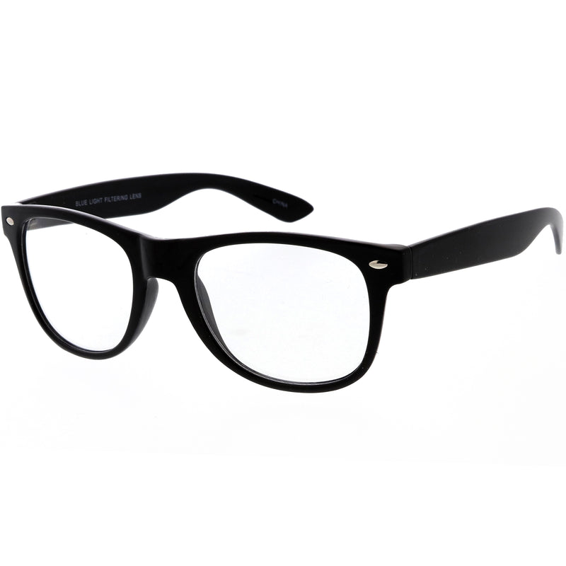 Everyday Blue Light Blocking Clear Lens Horned Rimmed Glasses D134