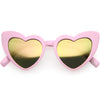 Kids Heart Shaped Mirrored Oversize Heart Sunglasses D143