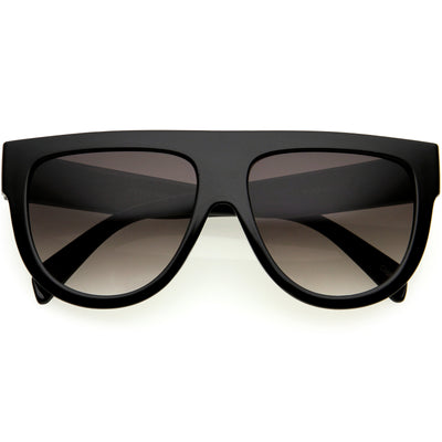 Kids Oversize Flat Top Glamorous Round Sunglasses D147