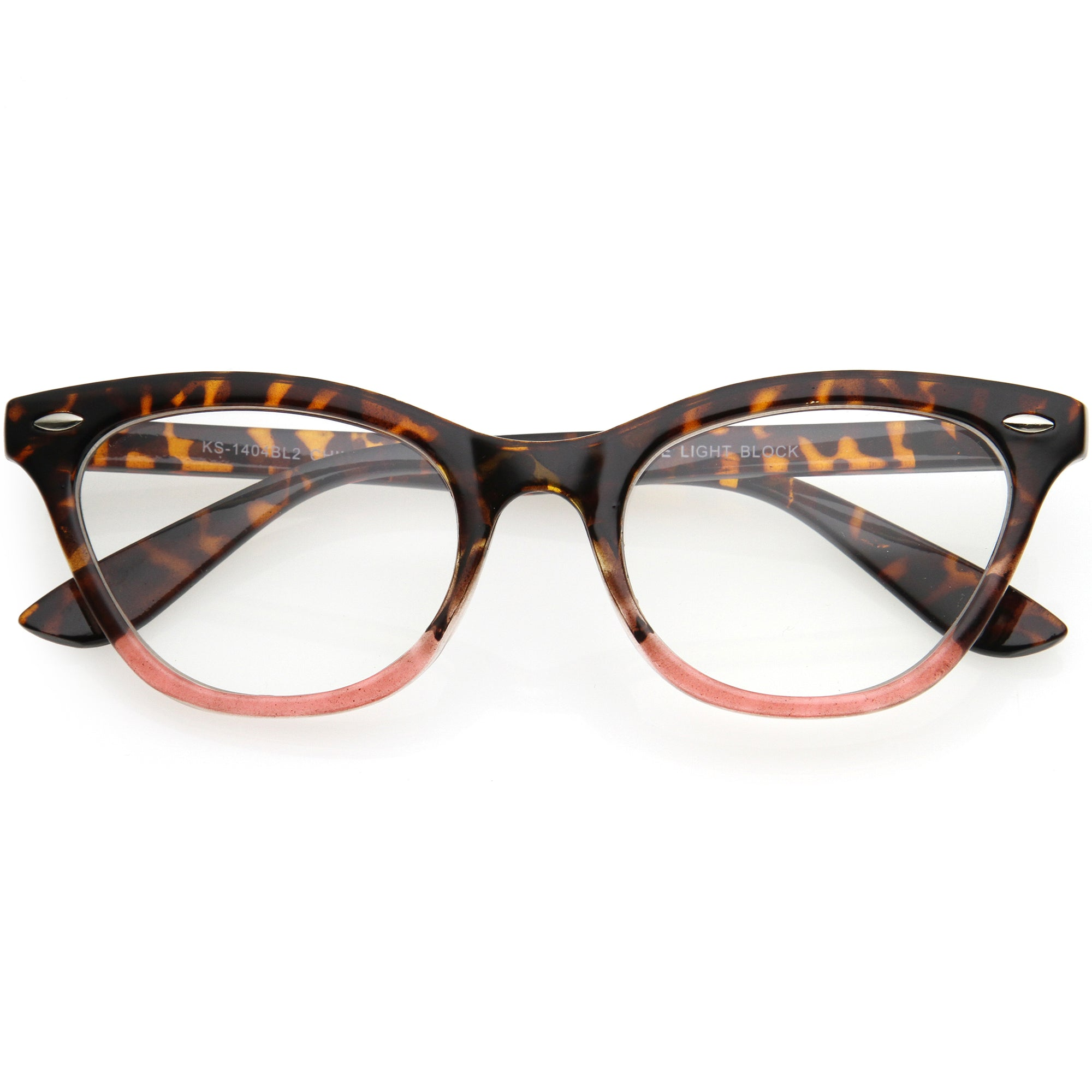 Chic Fashion Everyday Small Cat Eye Blue Light Glasses D156