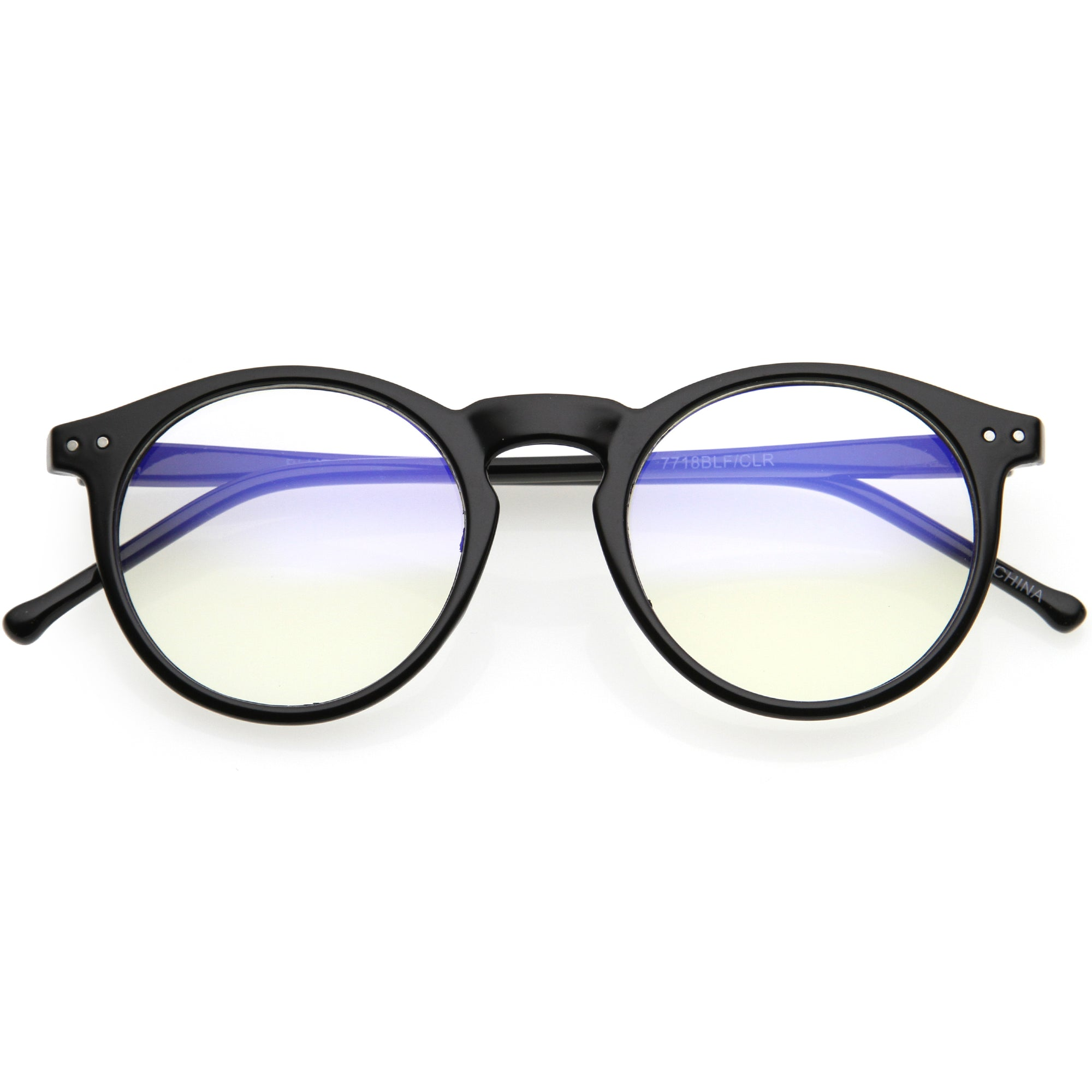 Retro P3 Shaped Clear Lens Blue Light Blocking Glasses D158