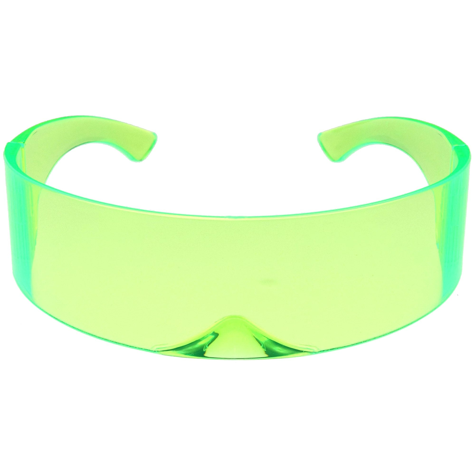 Futuristic Retro Color Tinted Wrap Around Shield Sunglasses D175