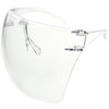 Blue Light Futuristic PPE Mask Visor Face Mask Oversize Shield Sunglasses D188