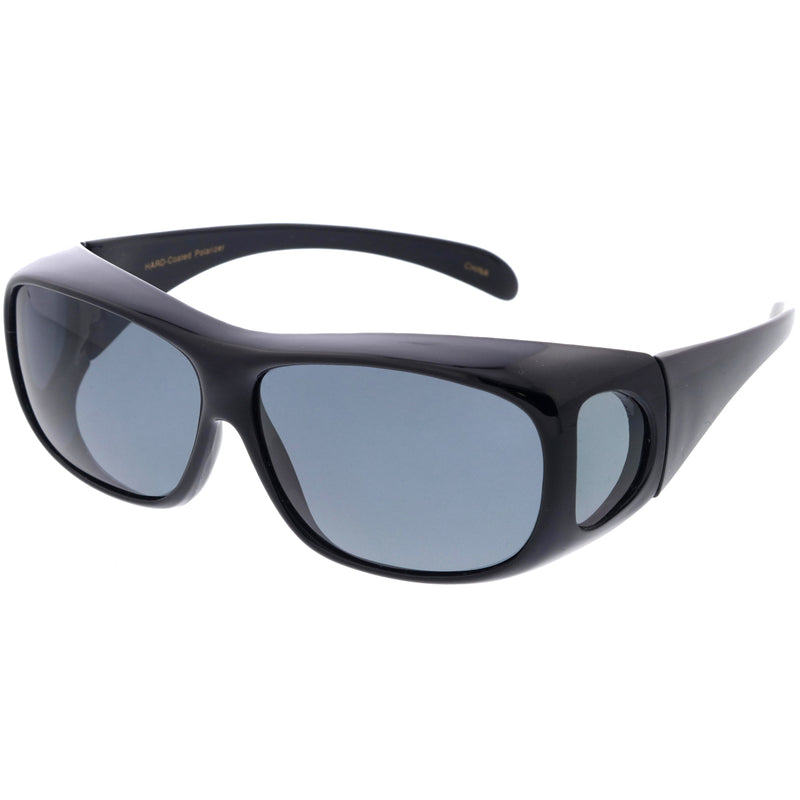 Sporty Full Wrap Around Protection Polarized Lens Sunglasses Goggles D190