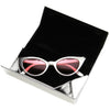 "Metallic Colored Portable Tri Fold Triangle 6.5"" Sunglasses Case D197"