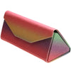 "Fabulous 6.5"" Glitter Rainbow Tri Fold Portable Sunglasses Case D198"