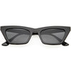 Mod Vintage Inspired Slim Pointed Cat Eye Sunglasses D211