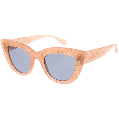 Classy Oversize Vintage-Inspired Round Cat Eye Sunglasses D217