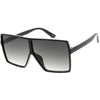Kids Flat Top Square Neutral Colored Lens Small Oversize Sunglasses D145