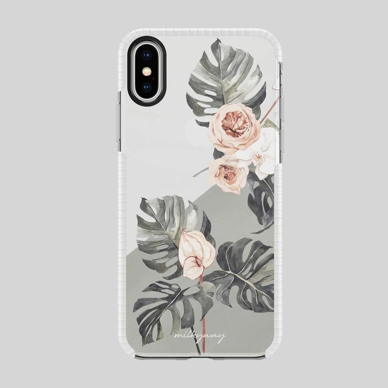 TOUGH BUMPER IPHONE CASE - NEUTRAL MONSTERA