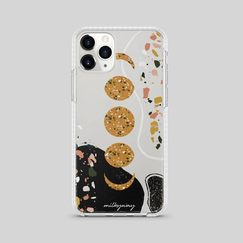 TOUGH BUMPER IPHONE CASE - TERRAZZO MOON PHASE