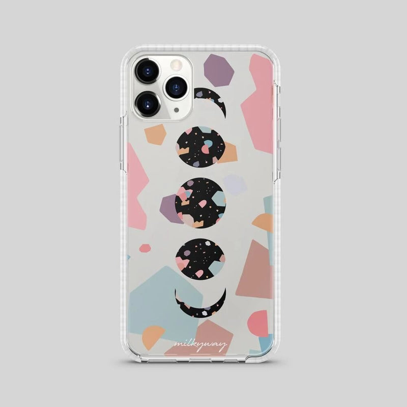 TOUGH BUMPER IPHONE CASE - TERRAZZO PASTEL MOON PHASE