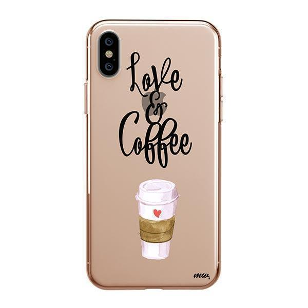 LOVE AND COFFEE - IPHONE CLEAR CASE