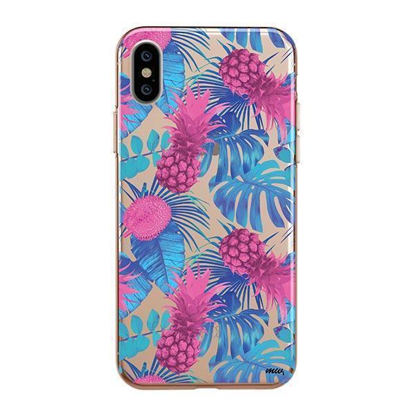 PURPLE SUMMERTIME PINEAPPLE - IPHONE CLEAR CASE