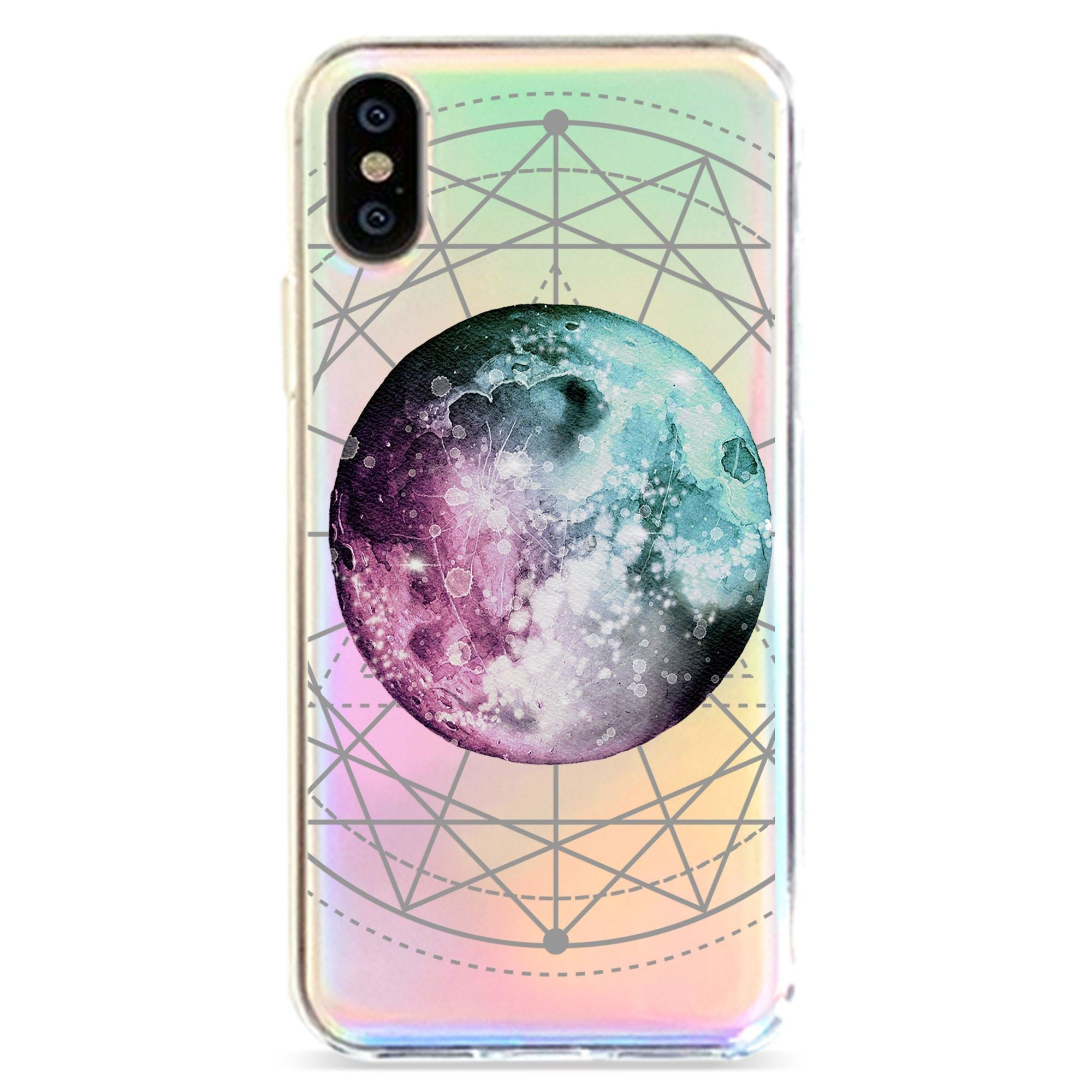 BLUE PURPLE MOON - HOLOGRAPHIC IPHONE CASE