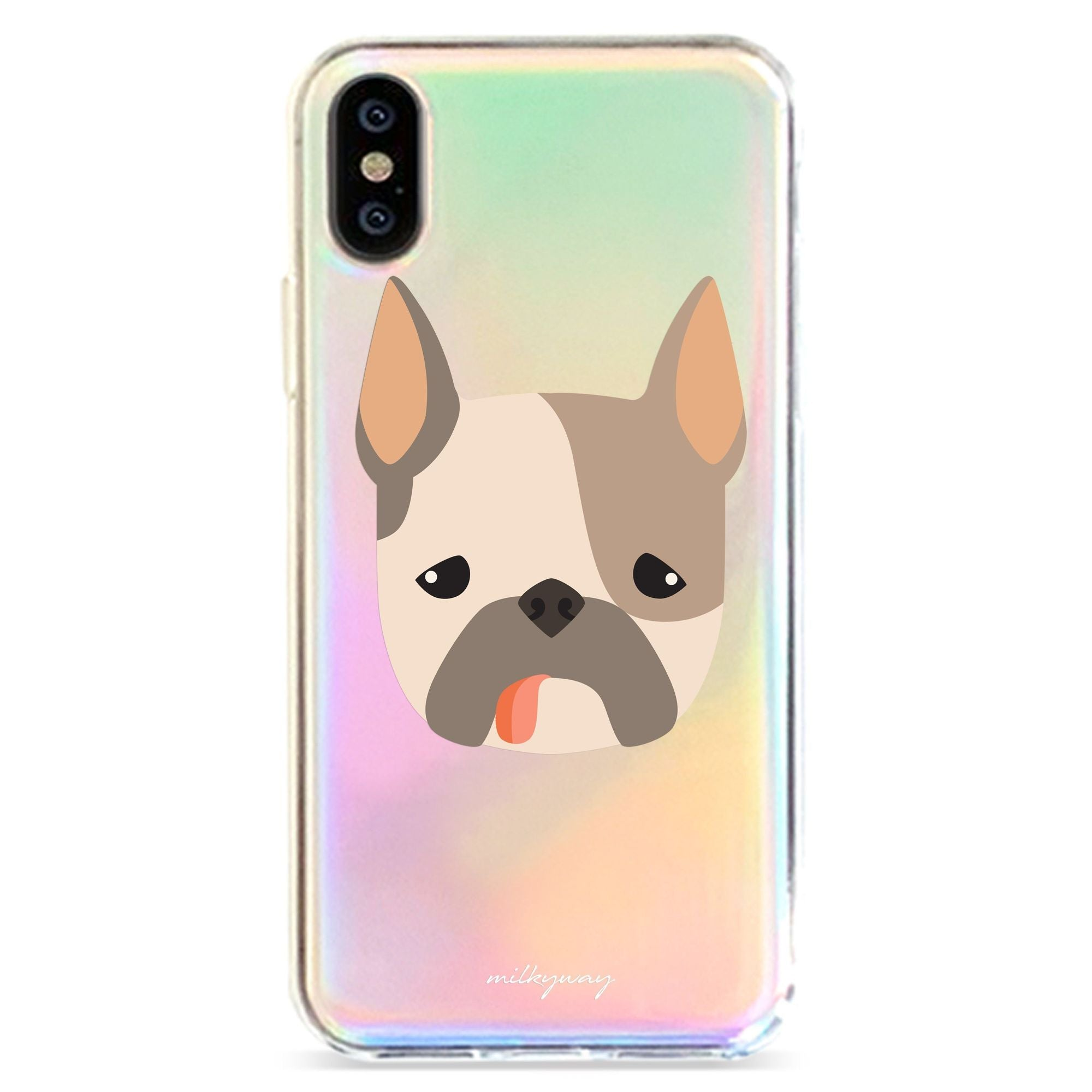 FRENCH BULLDOG - HOLOGRAPHIC IPHONE CASE