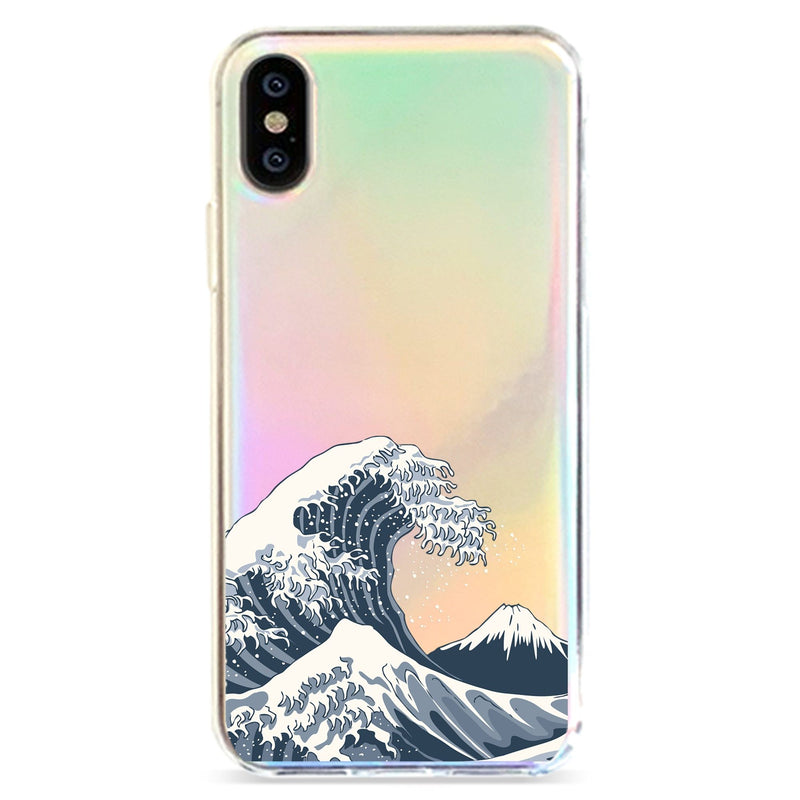 JAPAN WAVES - HOLOGRAPHIC IPHONE CASE