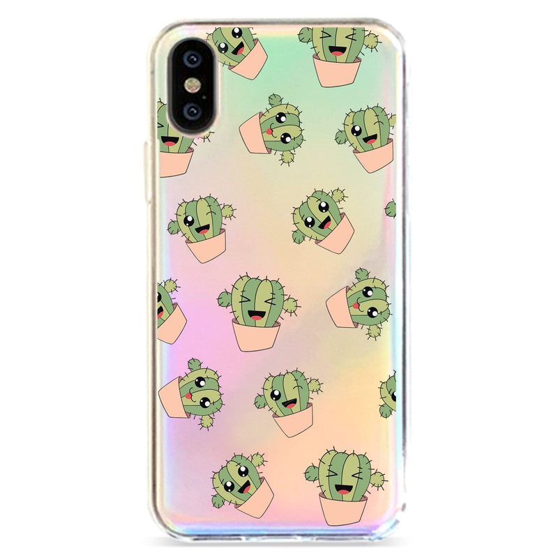 KAWAII CACTUS - HOLOGRAPHIC IPHONE CASE