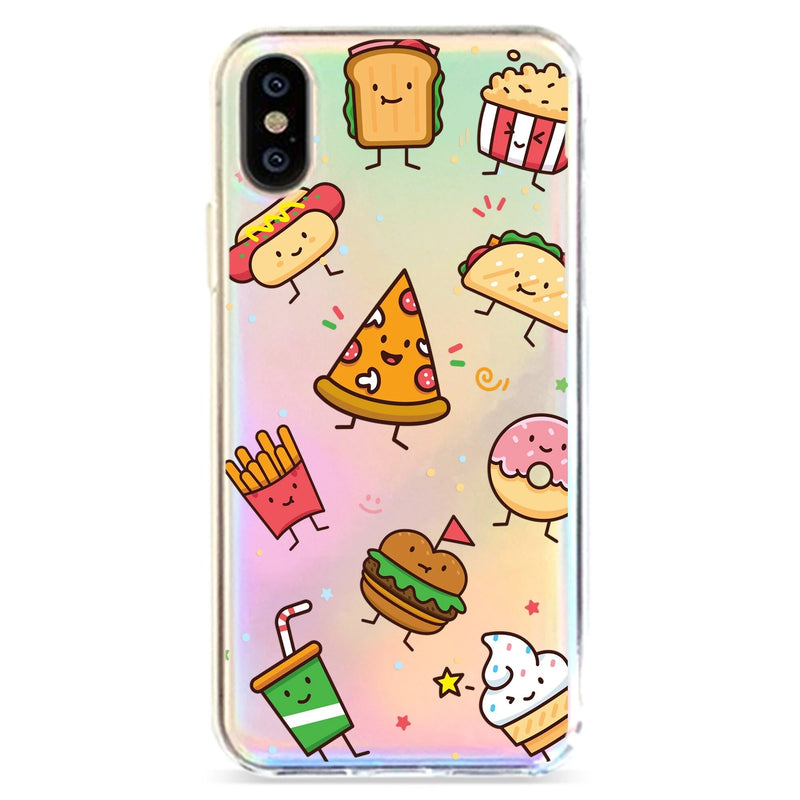 KAWAII JUNK FOOD - HOLOGRAPHIC IPHONE CASE