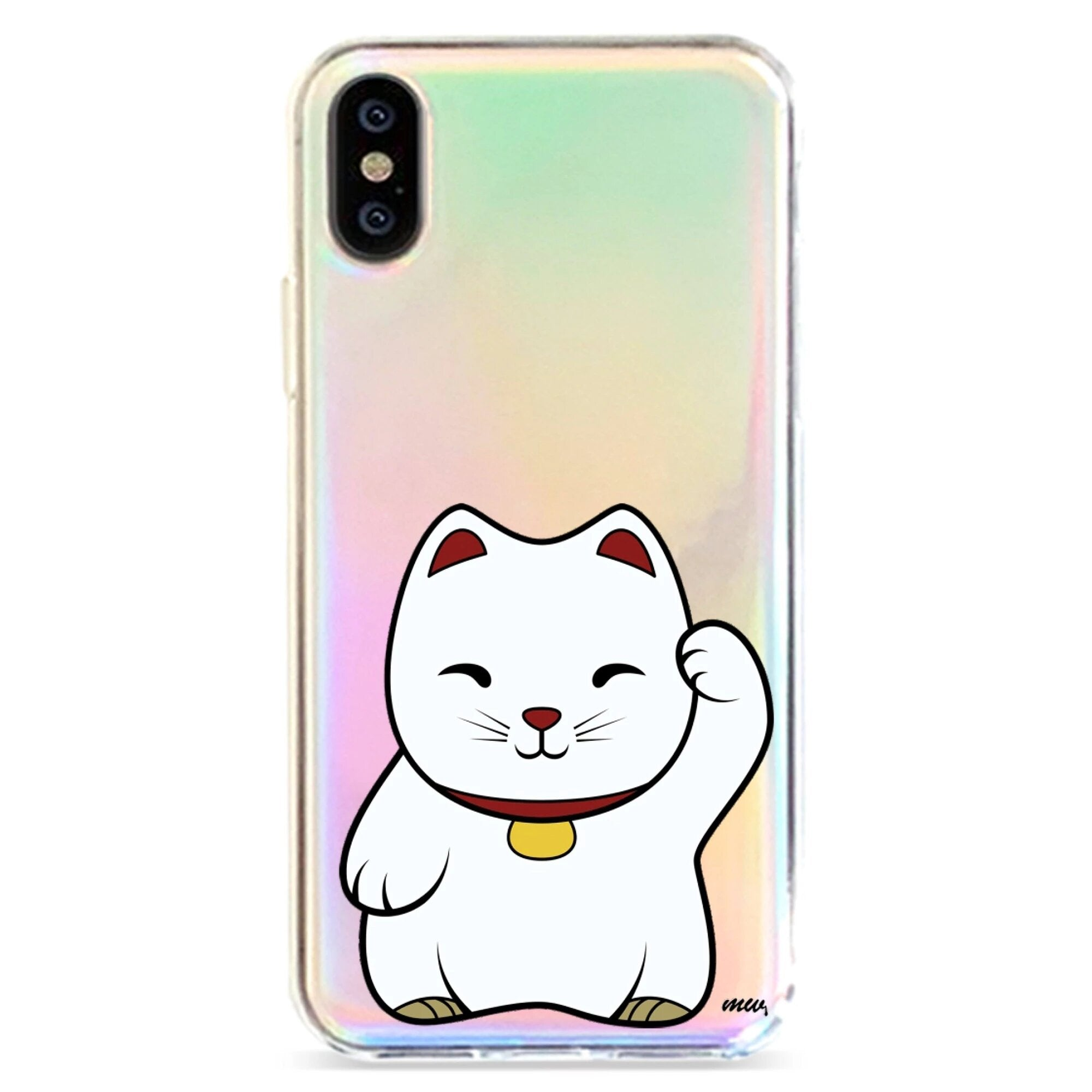 LUCKY CAT MANEKI NEKO - HOLOGRAPHIC IPHONE CASE
