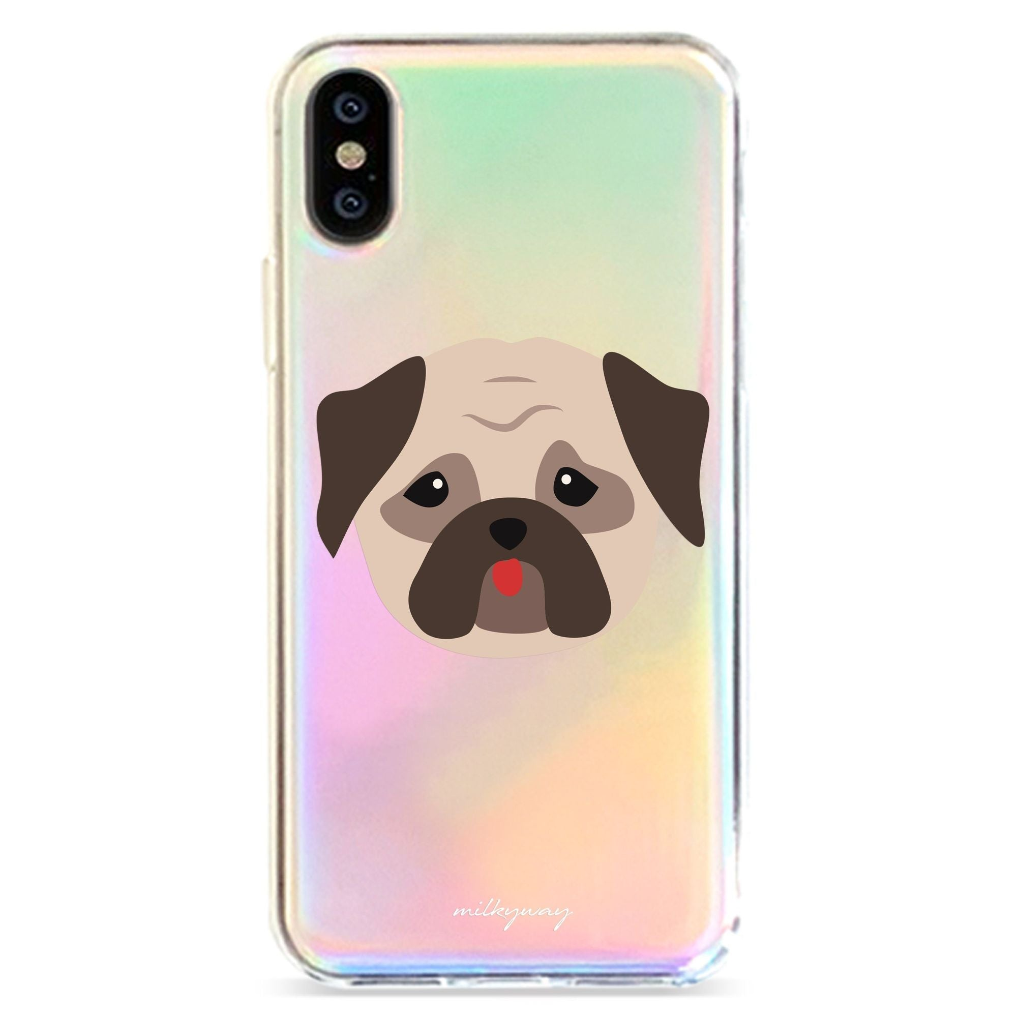 PUG - HOLOGRAPHIC IPHONE CASE