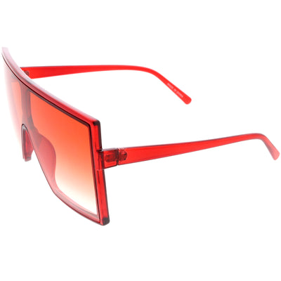 High Fashion Color Tinted Lens Flat Top Square Sunglasses D131