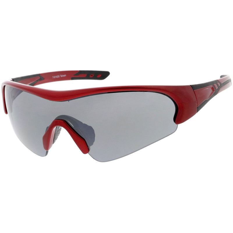 Outdoor Sports Half Frame TR-90 Polarized Shield Sunglasses C538