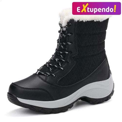 Botas Inverno Snow Classe Black - Woman Fashion / 35