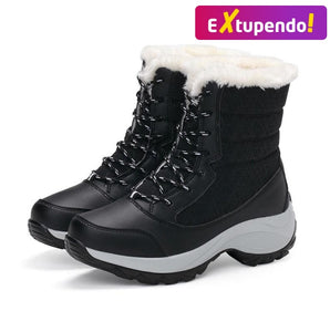 Botas Inverno Snow Classe Black - Woman Fashion