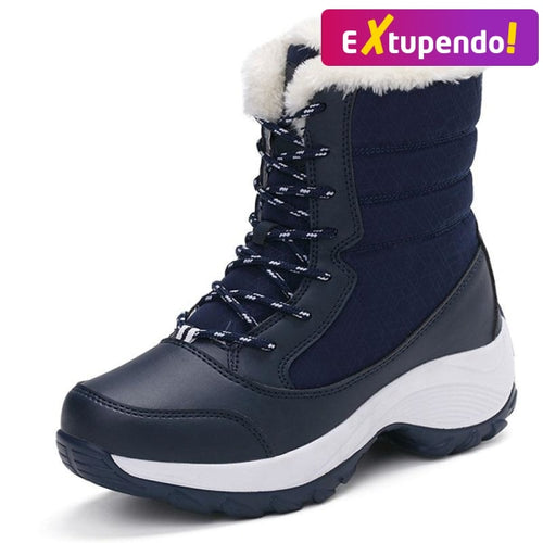 Botas Inverno Snow Classe Blue - Woman Fashion