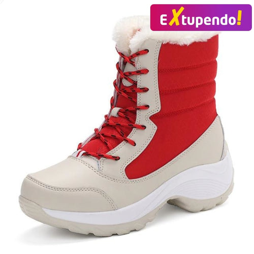 Botas Inverno Snow Classe Red - Woman Fashion / 35