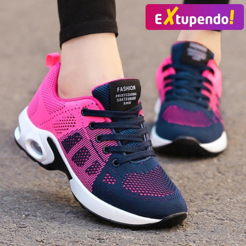Sneakers Running Femininos Multi Cores Superflex