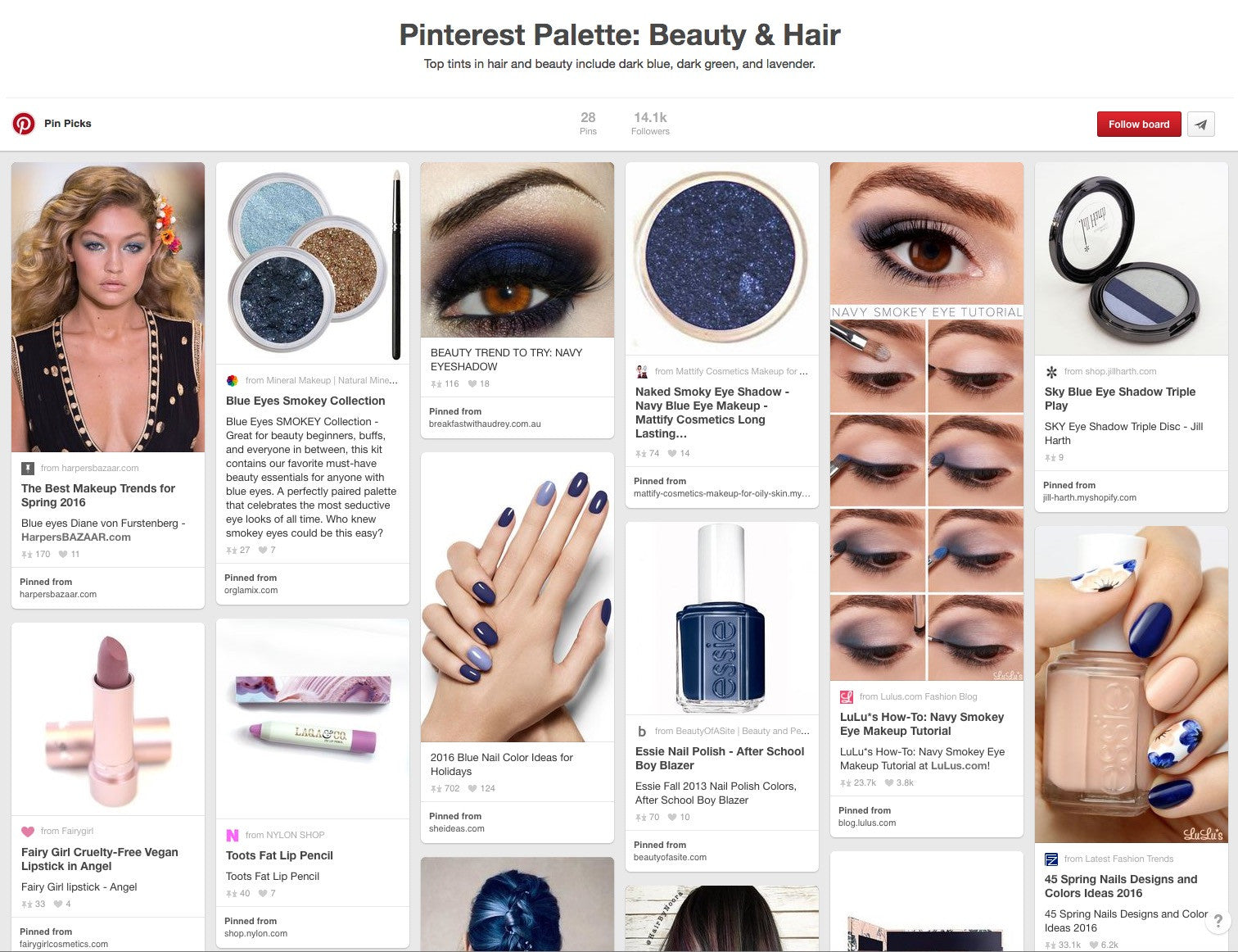Beauty Trend report: What's popular on Pinterest this month