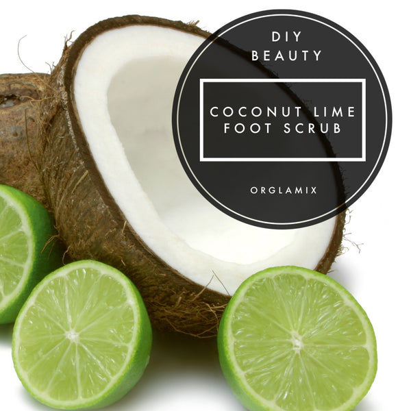 DIY Beauty: Coconut Lime Foot Scrub