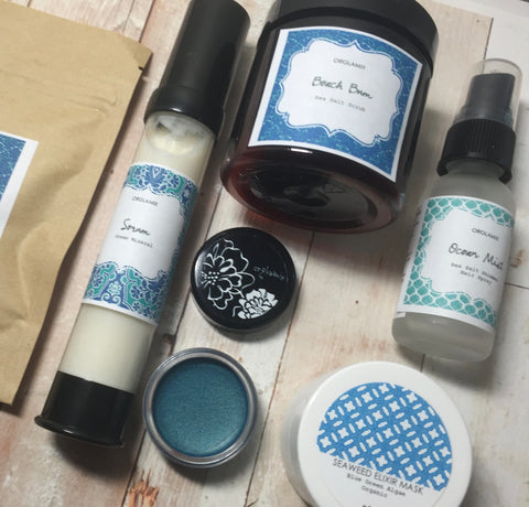Cruelty Free + Vegan Beauty Box by Orglamix ❤ Handmade | VITAMIN SEA
