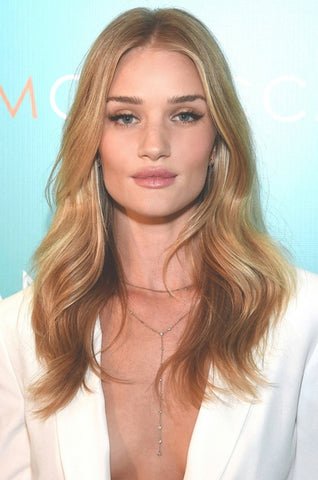 Rosie Huntington-Whiteley | Gold Eye Shadow | Celeb Beauty Tips + Tricks