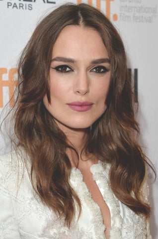Kiera Knightly | Winged Eyeliner + Berry Lips | Celeb Beauty Tips + Tricks