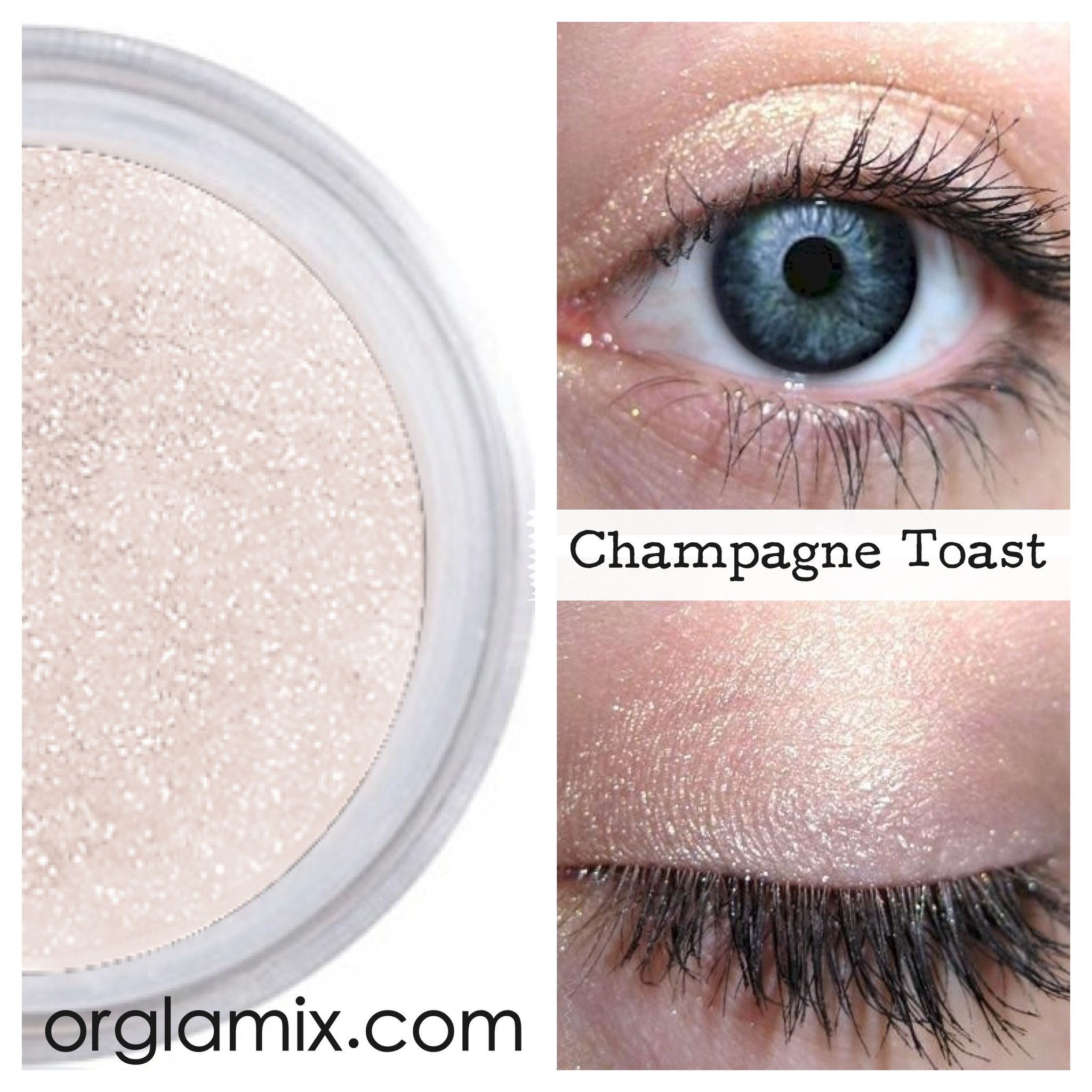 Champagne Toast Mineral Eyeshadow Orglamix Natural Eyeshadow