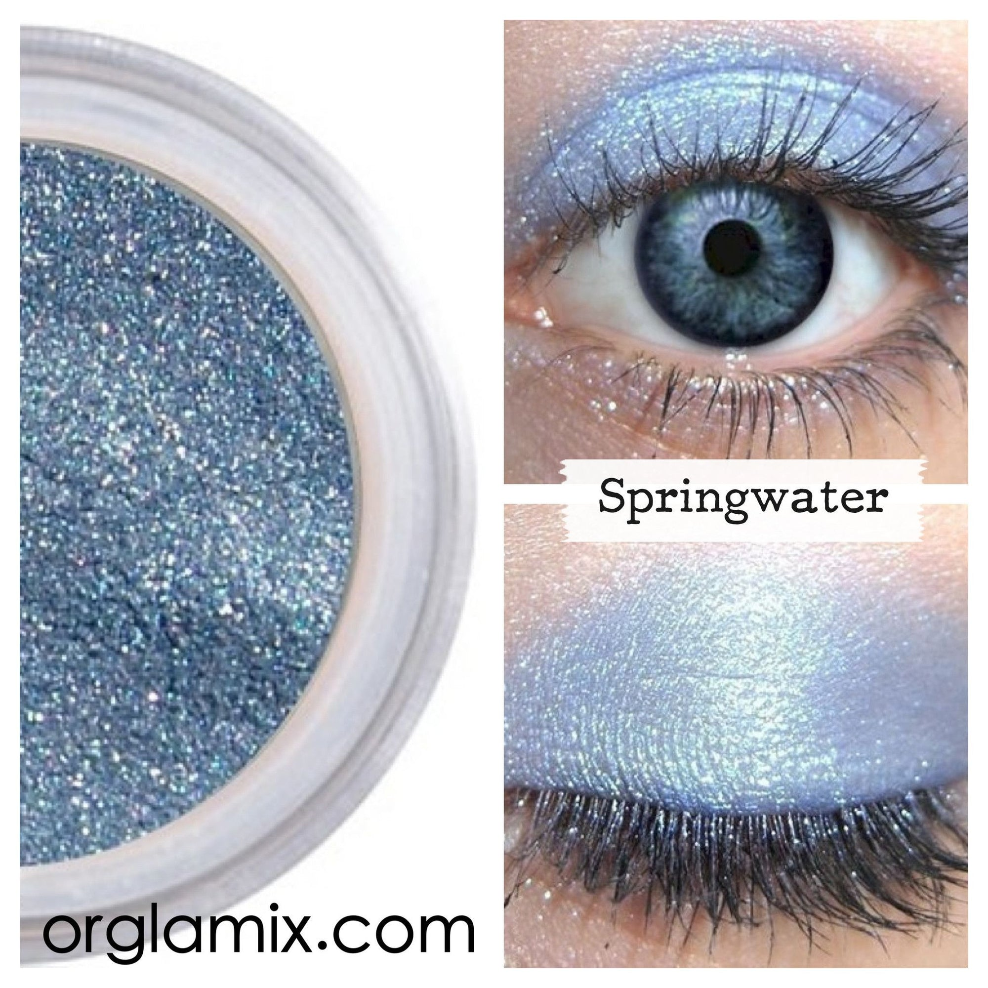 Springwater Eyeshadow - Cruelty Free Makeup, Best Mineral Makeup, Natural Beauty Products, Orglamix