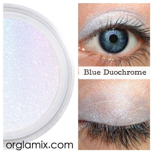 Blue Duochrome Eyeshadow Effects - Cruelty Free Makeup, Best Mineral Makeup, Natural Beauty Products, Orglamix